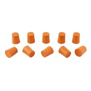 Rubber Stoppers Solid, Size 4, Top 21MM, Bottom 15MM. PK10
