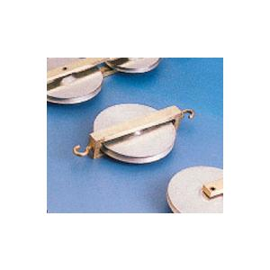 Aluminium Pulley 38mm, Single, with Two hooks