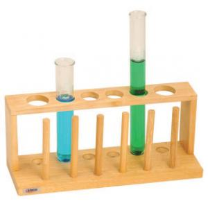 TEST TUBE STAND WITH DRYING PEGS, 6 TUBES
